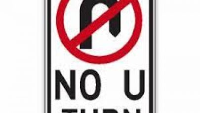 no u-turn sign